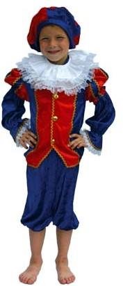 Luxe Zwarte Piet Kind Blauw/Rood