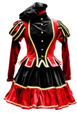 Dames Pietenpak Murcia Zwart/Rood -2