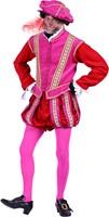 Pietenpak Type 'Amsterdam' Fluweel Roze-Rood-2
