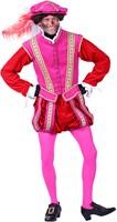 Pietenpak Type 'Amsterdam' Fluweel Roze-Rood