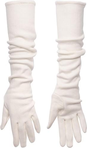 Handschoenen Sinterklaas Lang Wit Luxe