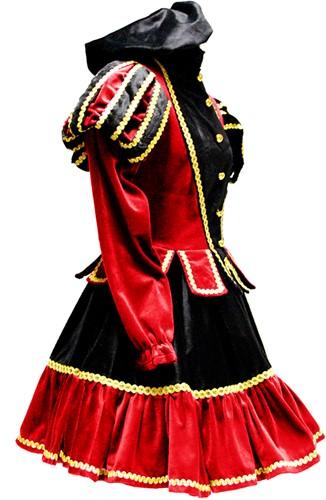 Dames Pietenpak Murcia Zwart/Rood -3