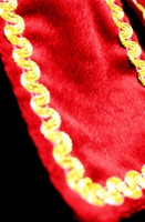 Dames Pietenpak Murcia Zwart/Rood (detail)