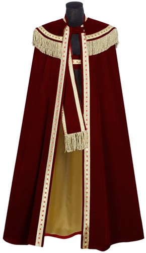 Sinterklaas Kostuum Fluweel Wijnrood