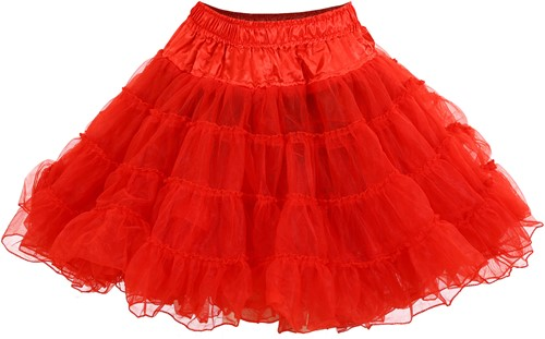 Rode Petticoat (2 laags)