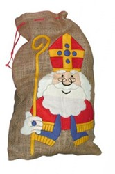 Jute Zak Sinterklaas Cartoon
