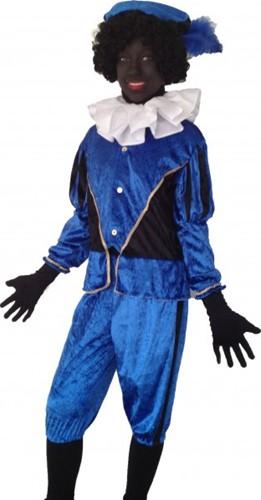 Kinderkostuum Zwarte Piet Blauw