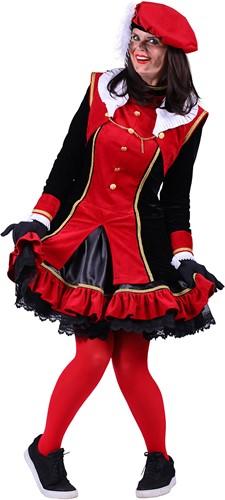 Pietenpak 'Graciosa' voor dames Rood/Zwart