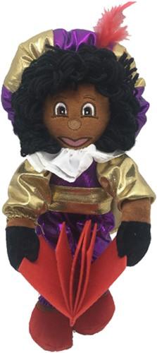 Etalage Decoratie Pop Zwarte Piet Luxe met Boek (35 centimeter)