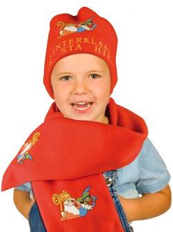 Sinterklaas sjaal en muts van fleece