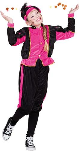 Zwart met Roze Kinderkostuum Zwarte Piet