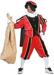 Kostuum Zwarte Piet Rood Luxe (met cape)