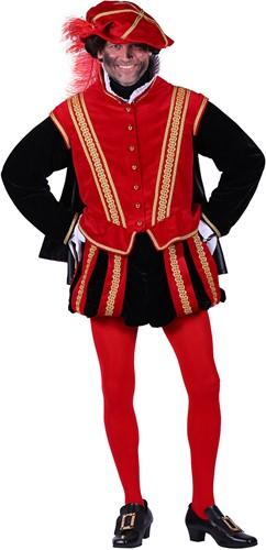 Pietenpak 'San Sebastian' voor heren Rood/Zwart