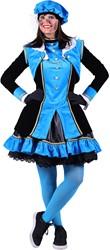 Pietenpak 'Graciosa' voor dames Turquoise/Zwart