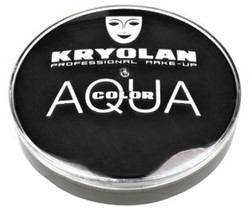 Aquacolor Kryolan Zwart 55ml 071