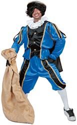 Kostuum Zwarte Piet Blauw Luxe (met cape)