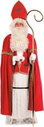 Fluwelen Sinterklaas Kostuum (4-delig)