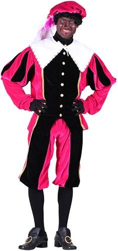 Pietenpak Carlos Fluweel Polyester Roze/Zwart