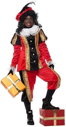 Dames Pietenpak Zwart/Rood Luxe