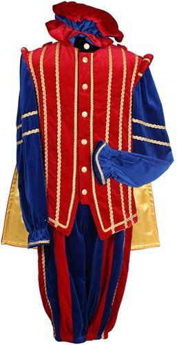 Pietenkostuum Marbella Fluweel Katoen Blauw/Rood-2