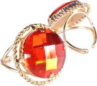 Ring Sinterklaas Goud/Rood (ronde diamant)-2