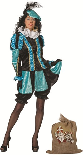 Pepita Dames Pietenpak Turquoise/Zwart