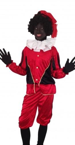 Kinderkostuum Zwarte Piet Rood