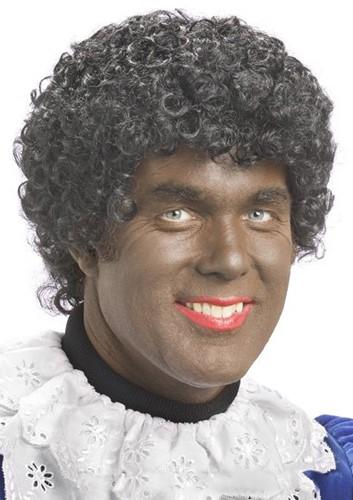 Pruik Zwarte Piet Luxe XXL