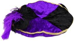 Paarse met Zwarte Baret Zwarte Piet (Pansamt)