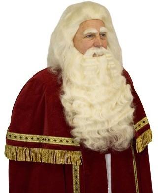 Baardstel Sinterklaas Buffelhaar (Yakhaar)