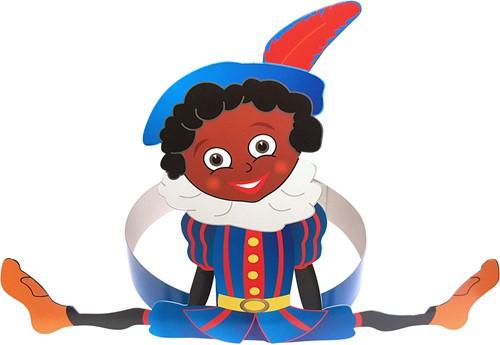 Kinder Hoofdband met Zwarte Piet (karton)