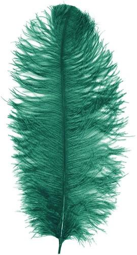Baret Struisvogelveer Groen 60-70cm