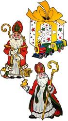 Raamdeco Sinterklaas (assorti)