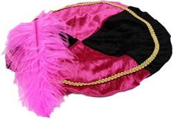 Pink met Zwarte Baret Zwarte Piet (Pansamt)