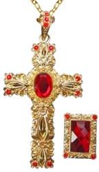 Sinterklaas Ketting met Kruis + Ring Luxe