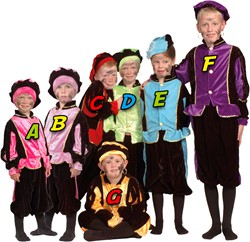Zwarte Piet Kostuum Pink