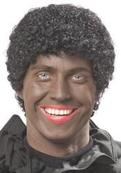 Pruik Zwarte Piet Luxe Groot