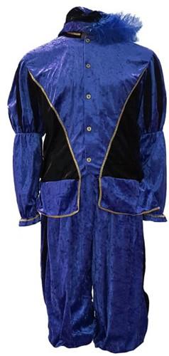 Zwarte Piet Kostuum Pedro Blauw-Zwart