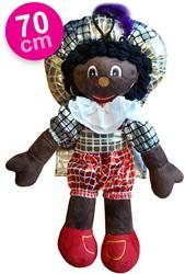 Decoratie Zwarte Piet Geblokt (70cm)