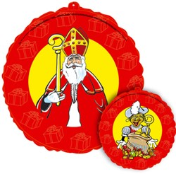 Sinterklaas en Zwarte Piet Folieballon