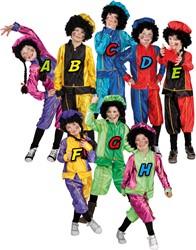 Kostuum Zwarte Piet Kind Zwart/Geel