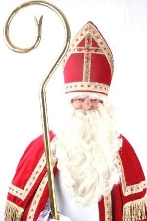 Baardstel Sinterklaas 3-delig (synthetisch+buffelhaar)