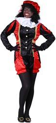 Pietenpak voor dames Castillie Zwart/Rood
