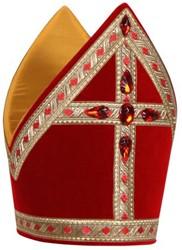 Kokermijter Traditioneel Fluweel Rood