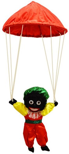 Zwarte Piet aan Parachute