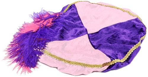 Paarse met Roze Baret Zwarte Piet (Pansamt)